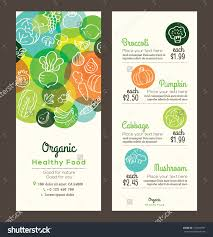 organic healthy food fruits vegetables doodles stock vector organic healthy food fruits and vegetables doodles illustration design template for menu flyer leaflet