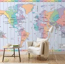 zones bedroom wallpaper: zone wallpaper custom photo font b wallpaper b font world time font b zone b font map d