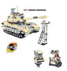 <b>Конструктор</b> Jie Star 3в1 (танк Т-90 и два робота) - 29018