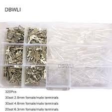 <b>120PCS 2.8</b>/<b>4.8</b>/<b>6.3</b>mm Crimp Terminals Spade Connectors Female ...