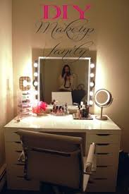 an awesome diy makeup vanity perfect for the makeup lover because theres drawers for storage best lighting for makeup vanity