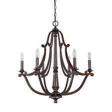 capital lighting 4366rt corday 6 light chandelier in rustic capital lighting soho