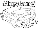 Форд мустанг с раскраской