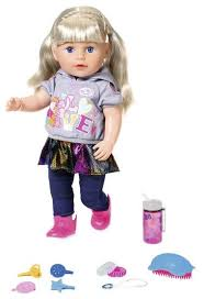 Интерактивная <b>кукла Zapf Creation</b> Baby Born Сестренка ...