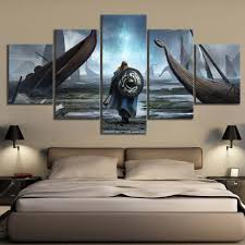 Canvas Painting Wall Art Modular Pictures <b>5 Pieces</b>/Pcs Vikings ...