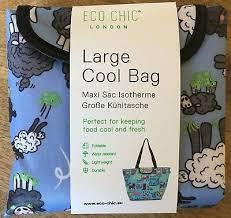 FOLDABLE <b>COOL</b> BAG LARGE Eco Chic <b>LOTS</b> OF DESIGNS Super ...