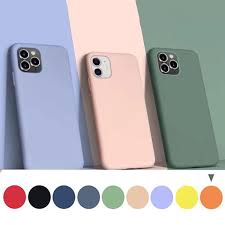 Soft <b>Liquid Silicone Original Velvet</b> Slim Matte Phone Case For ...