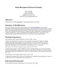 resume examples  resume internship sample  resume internship    resume sample for retail   working experience as  s manager