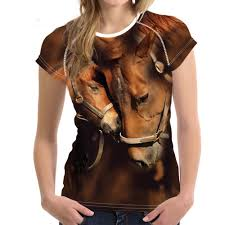 <b>FORUDESIGNS</b> Crazy Horse <b>Women T Shirts For</b> Teen Girls Short ...