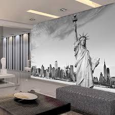 liberty bedroom wall mural: custom european modern architecture statue of liberty wallpaper bedroom living room sofa tv wall background wallpaper