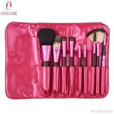 <b>Zoreya 9 pcs</b> Dark Rose Fashion Brush Set Natural <b>Make Up</b> ...
