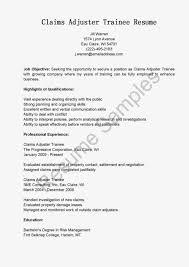claims adjuster resume sample cover letter template for claims samples trainee claims adjuster resume sample