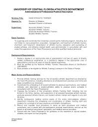resume student athlete sample cipanewsletter athletic training resume templates athletic training resume