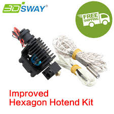<b>3DSWAY 3D Printer Parts</b> Straight Through Throat Extruder Hot End ...
