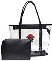 Natarura Women <b>Transparent Jelly Bag</b> Tote Bag <b>Summer</b> Rose ...