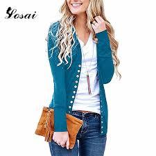 <b>S 2XL</b> 2018 <b>Women</b> Spring Autumn Wool Sweater <b>V</b> Neck Buckle ...