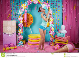 <b>Funny Korean Girl</b> With Big Colorful Lollipop Stock Photo - Image of ...