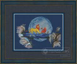 The Lion King, the golden <b>trio</b> (With images) | <b>Disney</b> cross <b>stitch</b> ...
