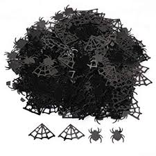 WEB confetti table scatter party <b>halloween decorations SPIDERS</b>