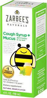 Zarbee's Naturals <b>Children's Cough Syrup</b> + Mucus with <b>Dark</b> Honey ...