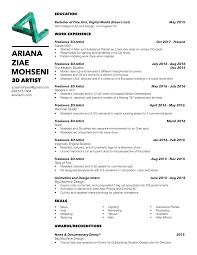 ariana ziae mohseni resume