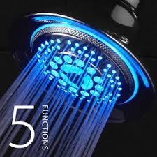 dreamspa chrome color changing light up shower head ample shower lighting