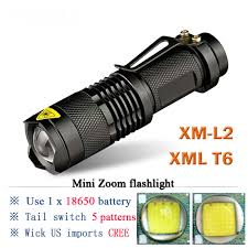 mini led flashlight led powerful lanterna zoom torch xm <b>l2 xml t6 LED</b> ...