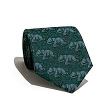 Erawan Silk Jacquard Tie - Dark Green ... - Jim Thompson