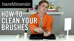 how to clean brushes bareminerals