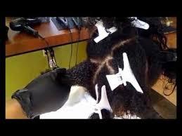 Keratin Treatment on African American hair - YouTube