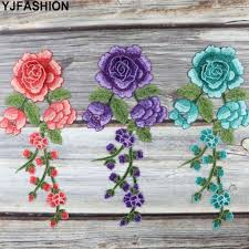 YJFASHION <b>1pc Sewing On</b> Patch Flower Embroidered cloth ...