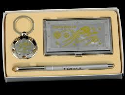 Australian Souvenir <b>Business Gift Box Set</b> Card Holder Pen Keyring ...