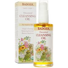Unscented <b>Face Cleansing Oil</b> - For Sensitive Skin | Badger Balm