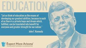 Image result for best photo president john f kennedy on education