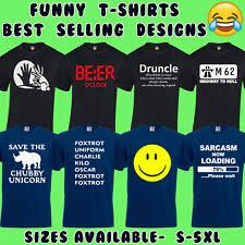 Mens <b>Funny T Shirts</b> | eBay