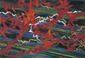 '<b>Explosion</b> of Red on <b>Green</b>', Gerardo Dottori, 1910 | Tate