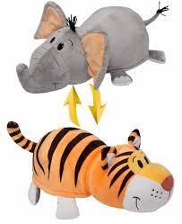 Мягкая <b>игрушка 1toy Вывернушка</b> 40 см 2в1 Тигр-Слон Т10931 ...