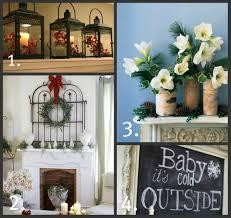 christmas mantel decorations ideas holiday