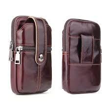 <b>YIANG 2018</b> Men'S 100% Soft <b>Genuine Leather</b> Waist Belt Bag ...