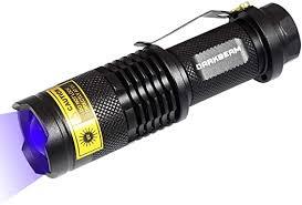 DARKBEAM Blacklight Flashlights <b>Portable</b> 365nm <b>Led Flashlight</b> ...