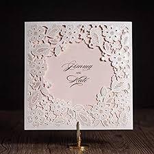 Occus 100pcs/lot Wedding Invitations Cards Elegant ... - Amazon.com