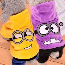 Cartoon <b>Dog Clothes Warm Pet</b> Clothing for Small Dogs Jumpsuit ...