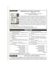 book review maji jose essentials of oral biology