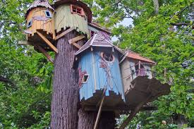 Captivating Kids Tree House Design Ideas With Light Wooden    Most Visited Gallery in the How To Design A Tree House To Get Fantasy And Retreat Spot