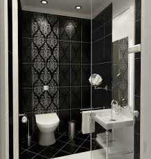 images of bathroom tile  awesome decorative black bathroom tile design combined with white interior also glass room divider idea