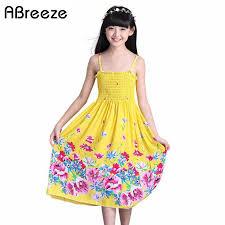2018 New 2 11T <b>summer children girls dresses</b> Style necklace long ...