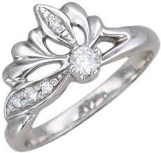 Серебряное <b>кольцо Эстет U15K152009</b> с фианитами — купить в ...