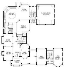 U Shaped Home With Unique Floor Plan  HWBDO     New American    U Shaped Home With Unique Floor Plan  HWBDO     New American House Plan from