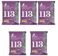 Sativa <b>Маска</b>-<b>гоммаж с фруктовыми кислотами</b> №113, набор из 5 ...