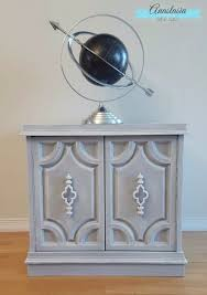 diy chalk paint furniture ideas with step by step tutorials weathered grey cabinet how chalk painting furniture ideas